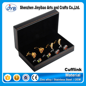 manufacturer custom luxury cufflink box with brand logo