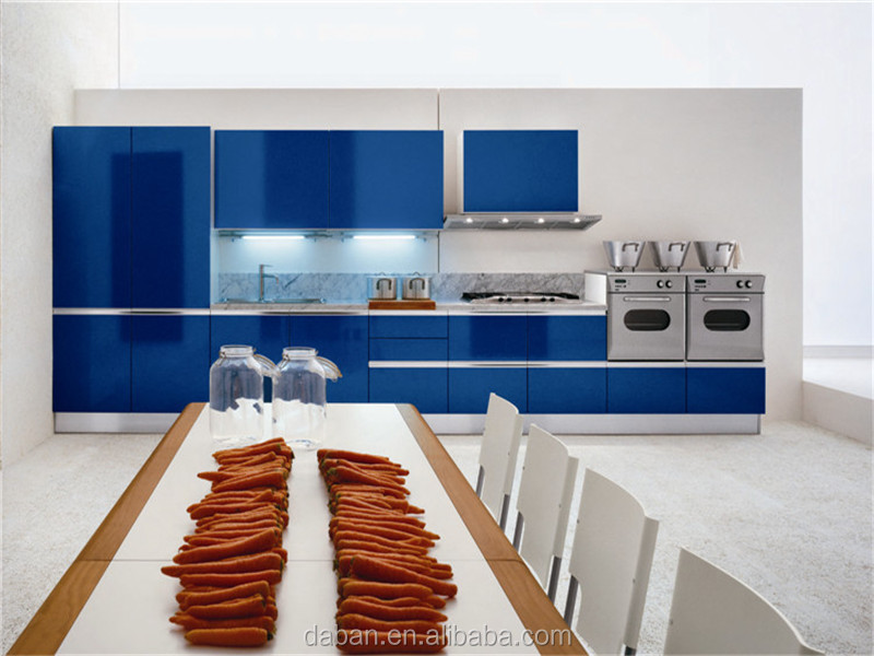 Lacquer Model Design Aluminium Banding Kitchen Cabinet Malaysia Type Furniture Foshan Factory Professional