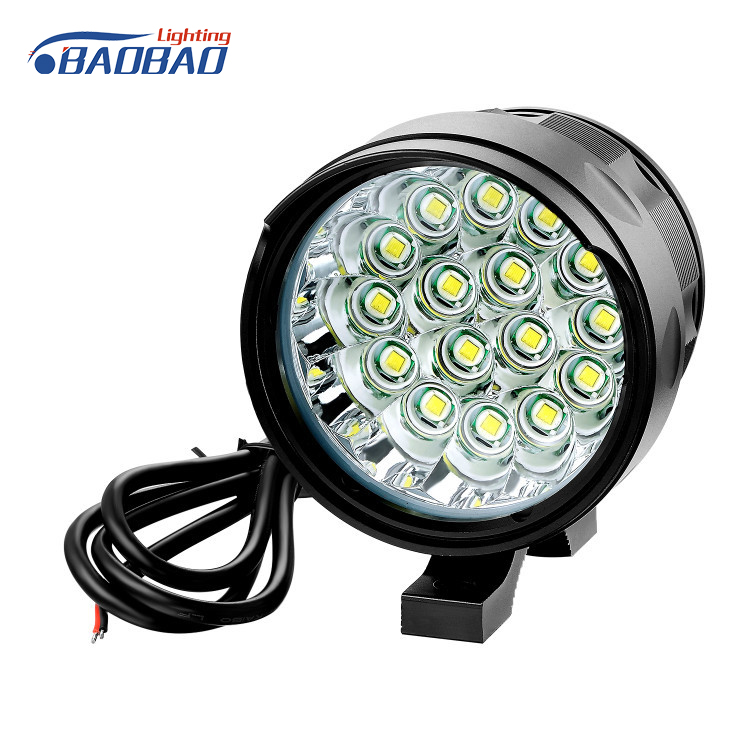 Most popular T6 dual color LED headlight for car and motorcycles 45w DC12-24V led headlight on sale