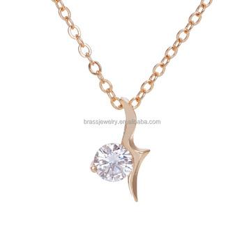 New simple design 18k gold gp round diamond pendant necklace buy new simple design 18k gold gp round diamond pendant necklace aloadofball Images