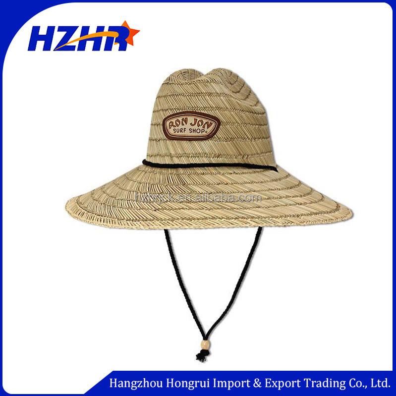 Atacado logotipo personalizado uso de pesca de praia de abas largas chapéu  de palha de Aba 7dd43906bd0