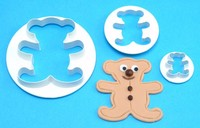 Set of 3 Teddy Bear Pattern Safe Plastic Custom Cookie Cutters