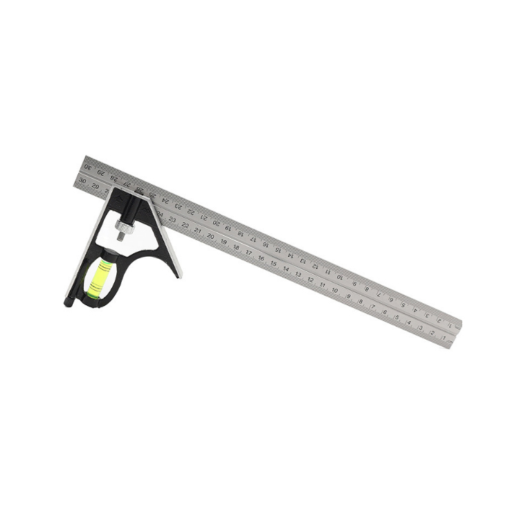 12inch 300mm sliding adjustable Combination square Set 90 degrees angle ruler with level vial