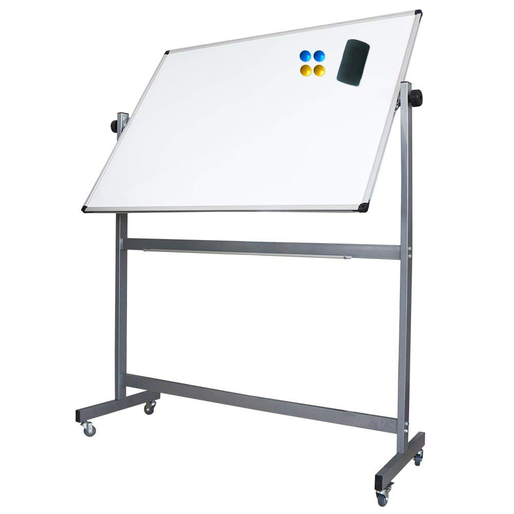 51a2a83b54e Get Quotations · XIWODE Double-Sided Magnetic Mobile Whiteboard