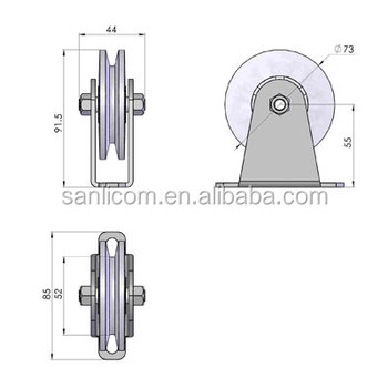 Greenhouse Shade System Reversal Pulley