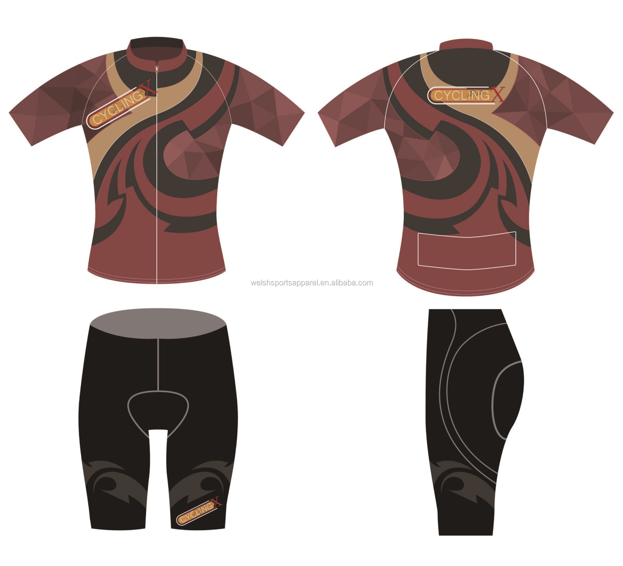 Cheap sublimation colourful cycling jersey dropshipping