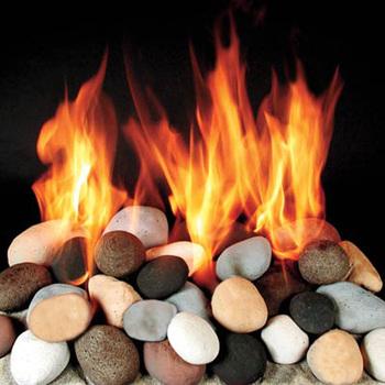Gas Fireplace Pebbles Stones Fire Pit