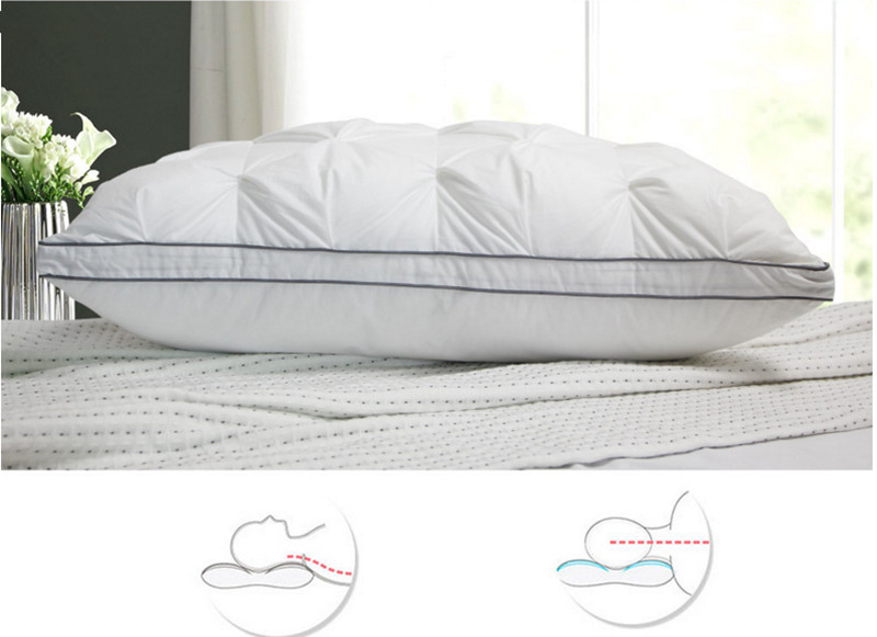 Three-dimensional Butterfly Single Pillow Rectangular Imitation Goose Down Hotel Supplies Pillow with Cotton fabric