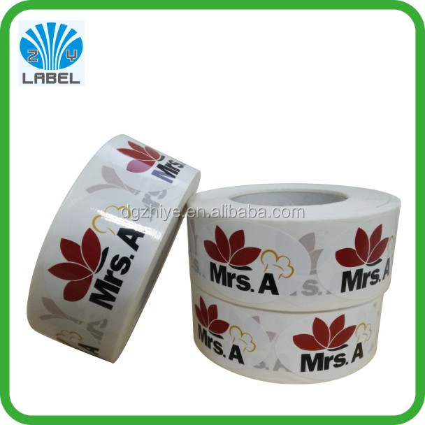 Best price custom logo label roll sticker , waterproof logo sticker roll
