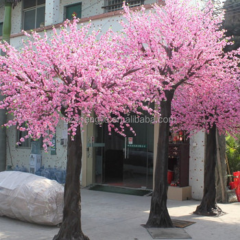 Y15 High Quality Artificial Tree,Large Outdoor Bonsai Tree,Decorative Silk  Flower Artificial Pink Peach Blossom Tree - Buy Artificial Peach Blossom