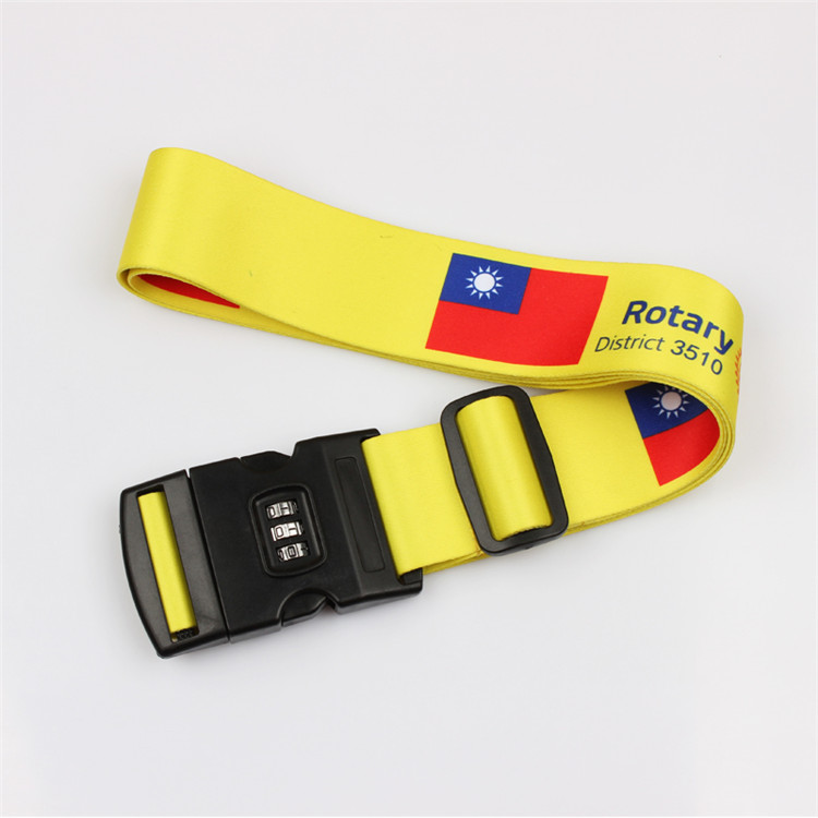 Custom embroidered adjustable luggage weight scale webbing strap