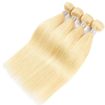 Hair Weave Blond  #613 Natural Straight wefts 100g/pc 100% Brazilian  Human Hair Extensions Remy
