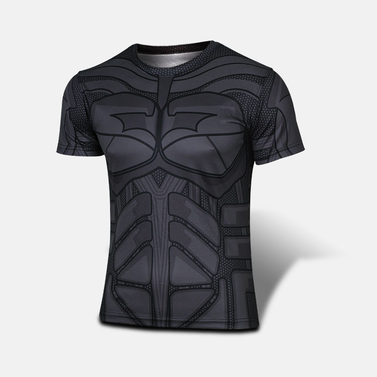 Sy506 Bat man Running Dry Fit t Shirt,Sports O- Neck Mens Fitness Shirt,Short Sleeves Fitness t Shirt