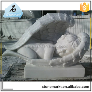 Garden stone little baby angel cheap price marble statue