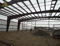 Durable heatproof design steel structure building for power 8 workshop