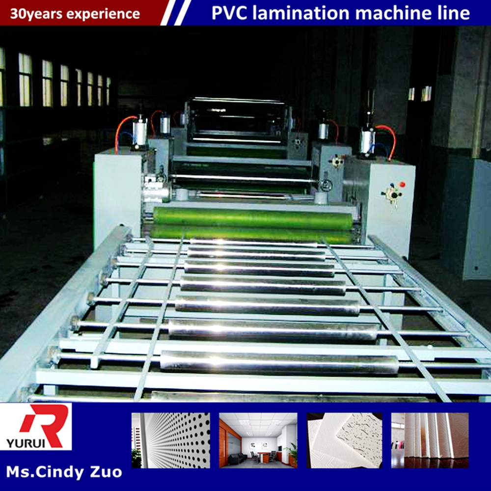 High precision pvc flex banner laminating machine/decoration gypsum ceiling board making equipment
