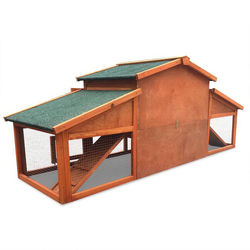 Wholesale large Wooden Chicken Coop with Nesting Box and Outdoor Run
