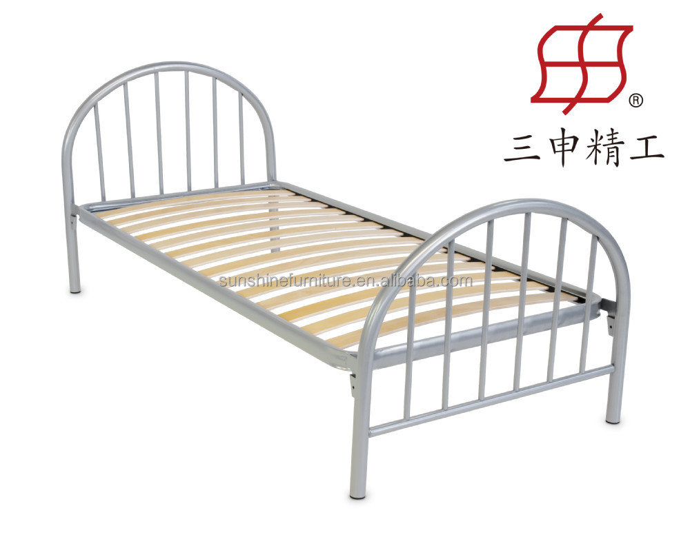single double queen size latest metal bed designs in wood slat bed ...