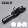 Tactical Optical 3 9X32 EG Riflescope With Holographic Reflex 4 Reticle Red Green Dot Sight Set