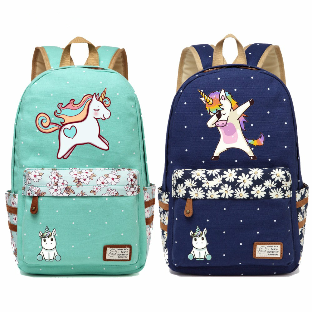Cute Unicorn Cartoon Cheap Girls School Backpack For Primary School