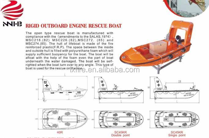 6 Person Rigid Outboard Engine Rescue Boat
