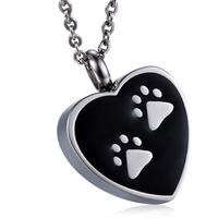 Hot sale 316L stainless steel cremation urn jewelry pendants for pet ashes pendant necklace GHP043