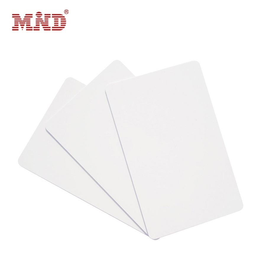Custom clear credit card size ID white blank plastic pvc cards