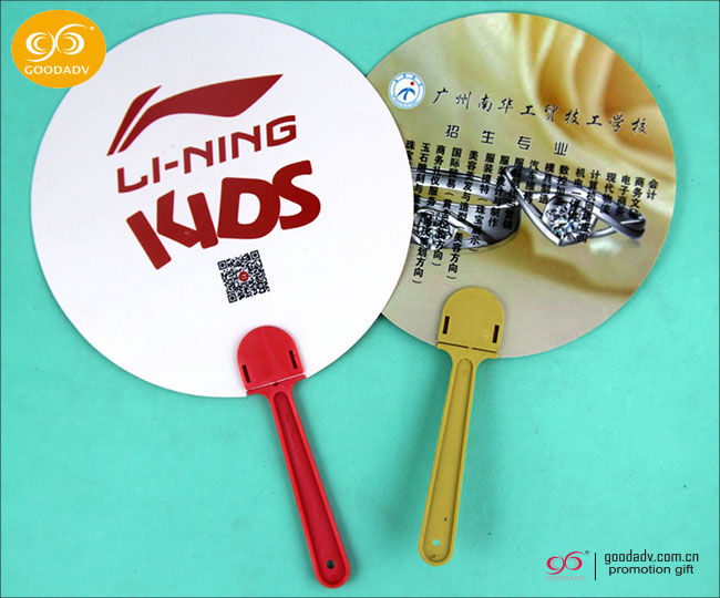 Summer Promotion custom printed hand fans / drawing of design of hand fan