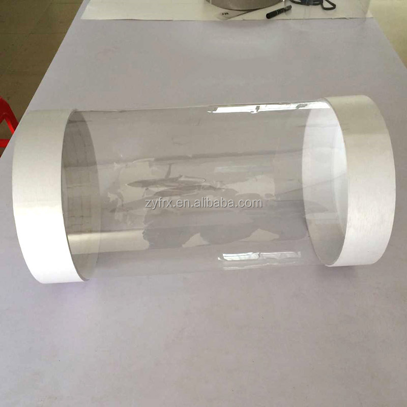 High quality PVC/PET plastic cylinder container