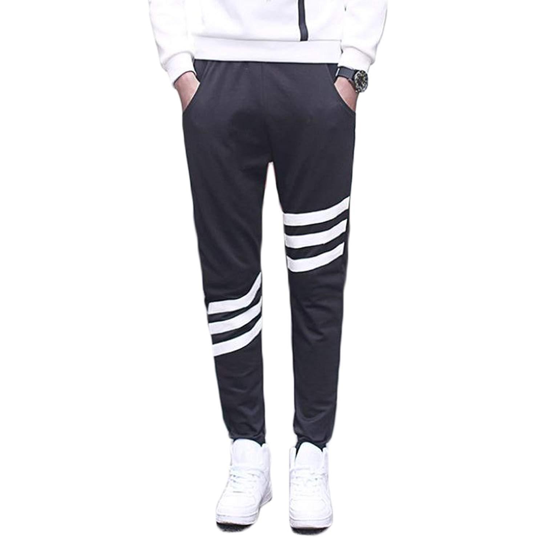 ONTBYB Mens Fashion Pants Slim Plain Sweatpants Casual Jogger Pants