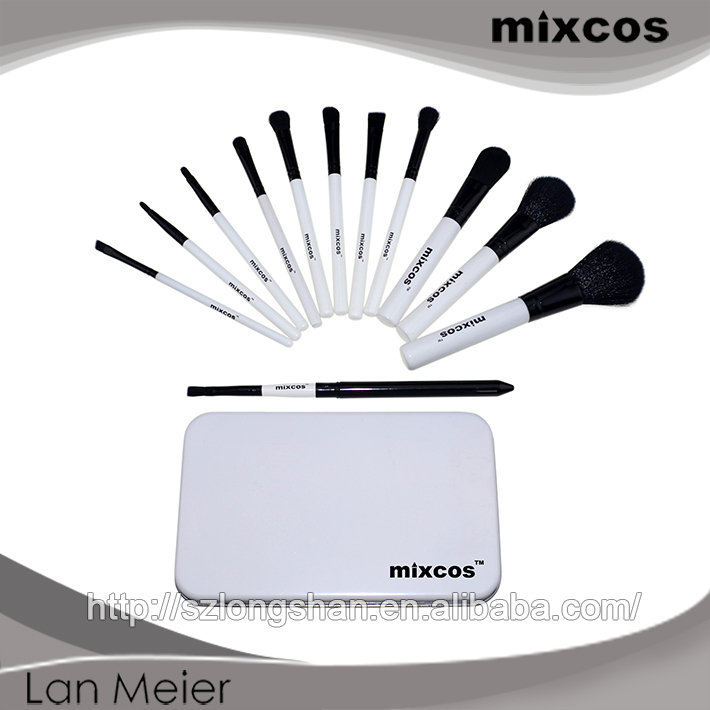 Suitable For Charming Lady Wholesale Make-up Brushes With Nice Iron Box