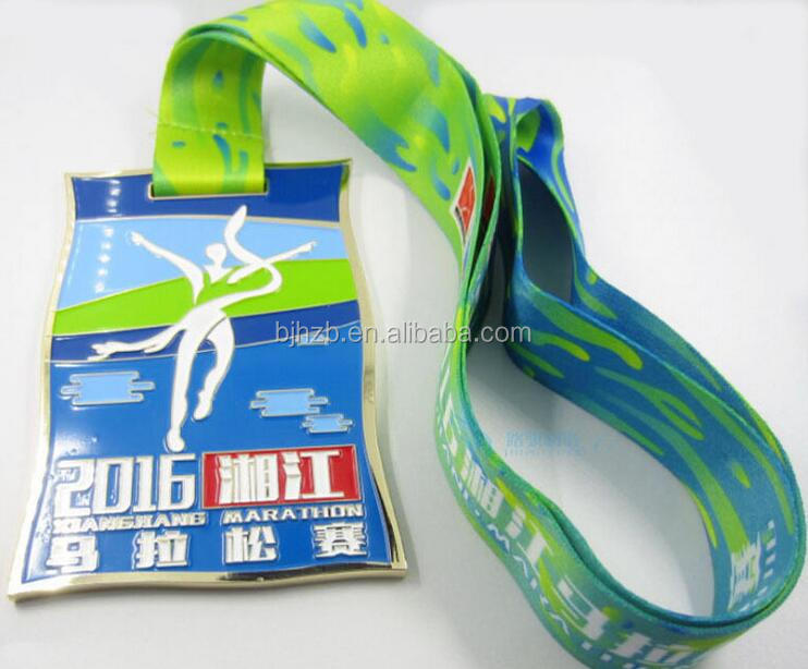 new style rectangel shape running sports medal hanger