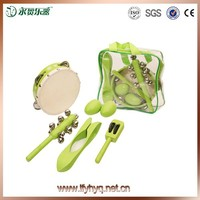 Musical Instrument Covers tambourine,bell and musical spoons percussion set