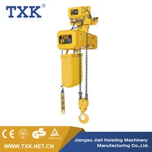 TXK Electric Chain Hoist SSDHL03-02M 3 ton chain hoist suspension with electric travel trolley