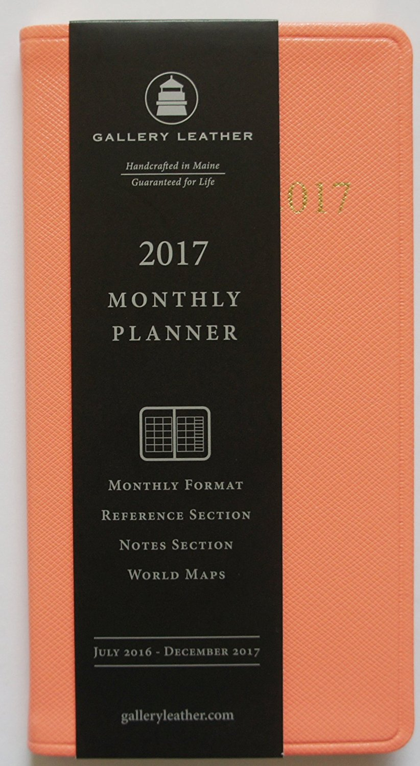 2017 GALLERY LEATHER Sweet Pink Cartier Leather Monthly Pocket Planner MADE IN USA