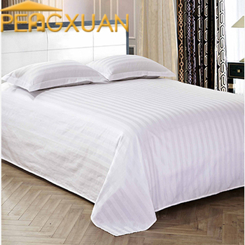 50% Cotton 50% Polyester Hotel Flat Bed Sheets Twin Bed Sheet Set