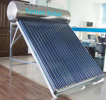 100 degrees hot gas boil non pressurized solar water heating system