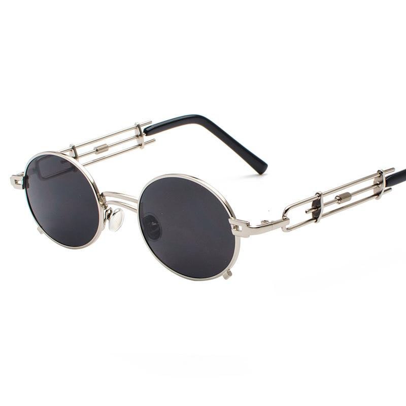 Hippie Retro Runde Kreis Rahmen Steampunk Sonnenbrille--Produkt ID ...