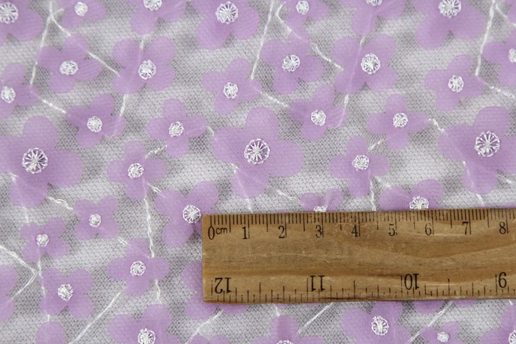 China wholesale 100% polyester net lace laser embroidery fabric