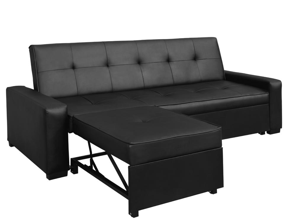 Livingroom Furniture New Model Leather Corner Sofa - Buy Black ...