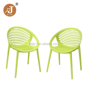 Modern Cafe Arm Chair Polypropylene Plastic Dining Chair