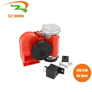 Red color snail electric air horn with air pump for Car/Motorcycle/Truck