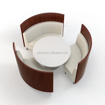 Alime Round Restaurant Booth Dining Tables And Chairs Sets Buy - Round booth table
