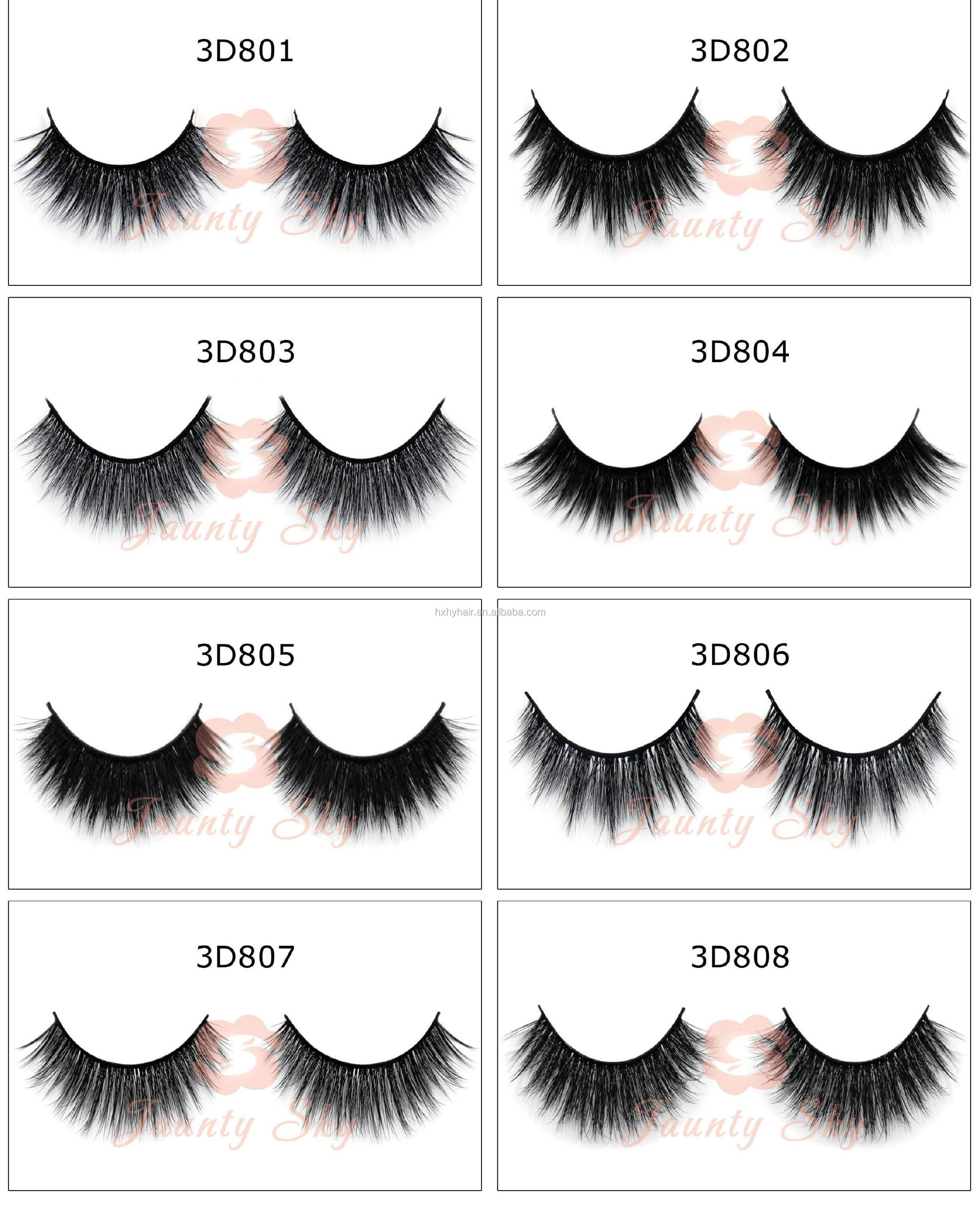 3d Silk Mink Hair Lashes 3d Strip False Eyelashes 3d Flare Eyelashes