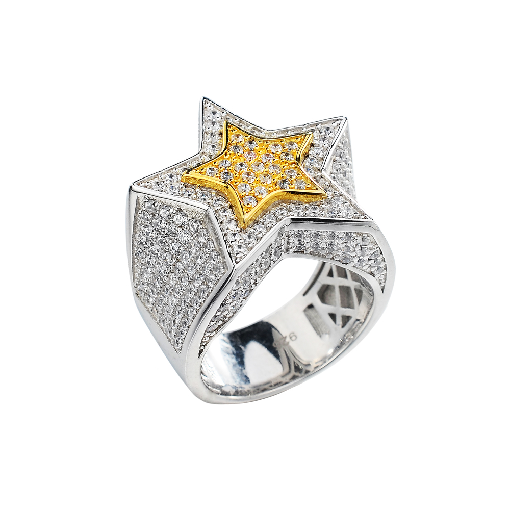 china jewelry wholesale 925 sterling silver jewelry star shape mens rings