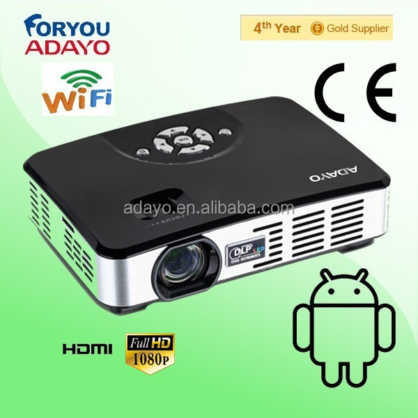 Portable projector support on-line television