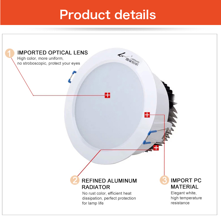 Leimove commercial illumination adjustable led downlights surface mounted for wholesale-14