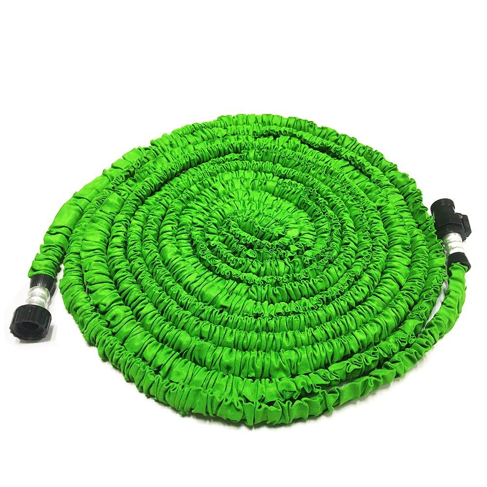 KRASR Garden Hose, 50Ft Heavy Duty Expanding Water Coil Best Flexible Expandable Retractable Collapsible Shrinking Hoses Strongest Lightweight Green