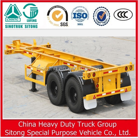 40ft skeleton truck semi container chassis trailer