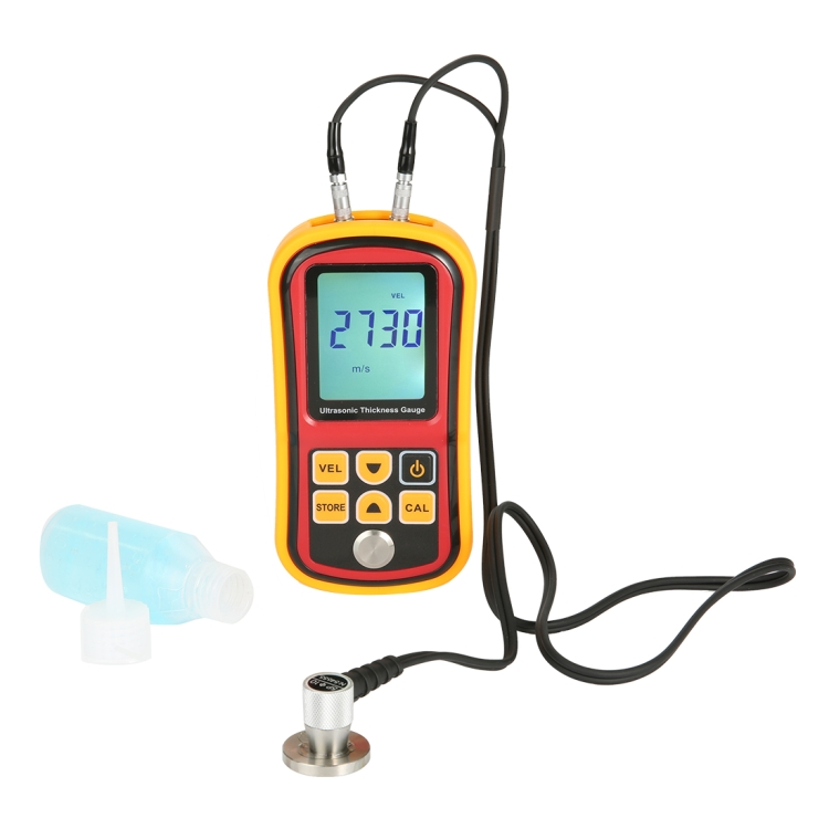 Ultrasonic Thickness Meter Tester Gauge Velocity 1.2~225mm Metal GM-100